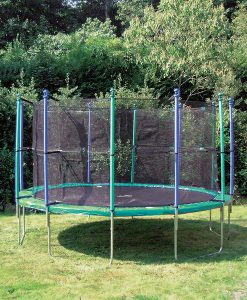 Gartentrampolin Sicherheitsnetz mit 12 gepolsterten Stangen