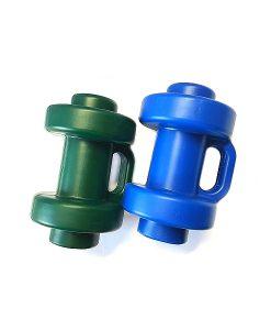 Gartentrampolin Trimilin-fun Stangenabdeckung (Hütchen) für Sicherheitsnetz, blau und grün