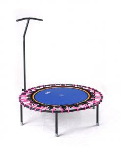 Trampolin Trimilin-jump mit Haltestange, Gummikabel pink
