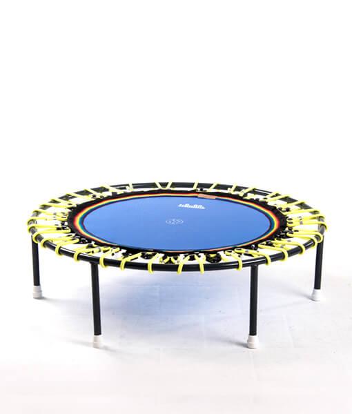 Minitrampolin Trimilin Vivo, blaue Matte, Gummikabel gelb