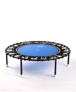 Minitrampolin Trimilin Vivo, blaue Matte, Gummikabel schwarz