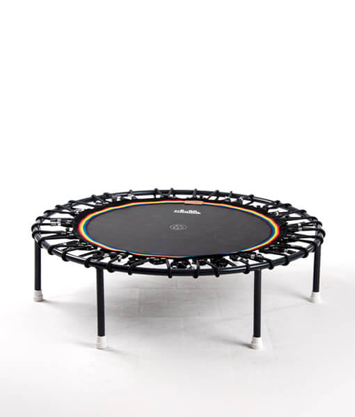 Minitrampolin Trimilin Vivo, schwarze Matte, Gummikabel schwarz